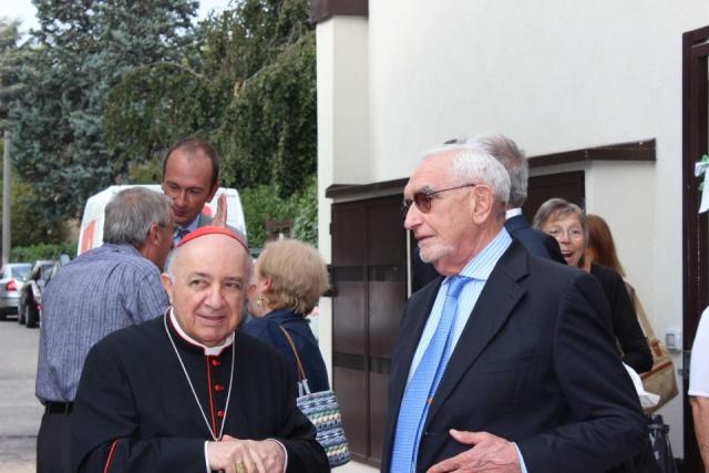 Il cardinale Tettamanzi con Giuseppe Guzzetti