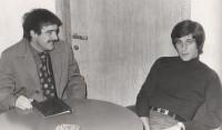 Claudio Pollastri con Gianni Rivera