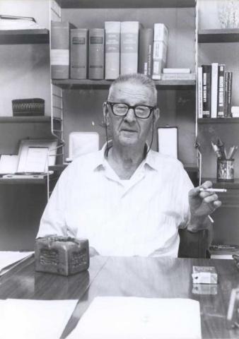 1990, Giorgio Perlasca nella sua abitazione