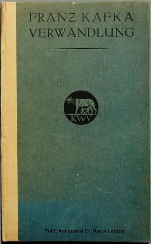 Copertina della prima edizione de La metamorfosi, Leipzig: Kurt Wolff, 1915