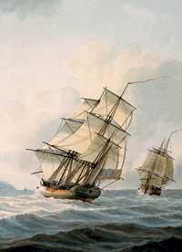 Le carboniere con cui Cook e Clerke salparono gli Oceani