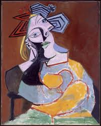 Donna seduta appoggiata sui gomiti 1939 - Picasso