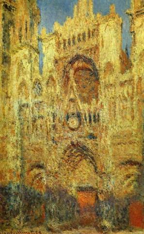 Cattedrale di Rouen al tramonto