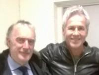 Claudio Baglioni ringrazia il giornalista Claudio Pollastri