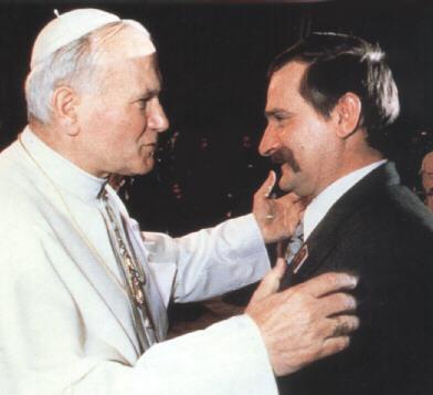 L'incontro tra il papa Giovanni Paolo II e Lech Walesa