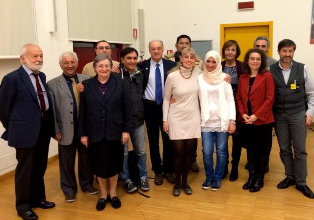 foto di gruppo, con il primo a sn. prof. Masera