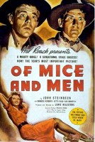 Locandina del film Of Mice and Men (1939), tratto dall'omonimo libro di Steinbeck