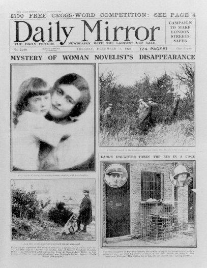 La notizia della misteriosa scomparsa di Agatha Christie sul Daily Mirror
