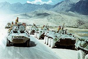Un'immagine dell'intervento sovietico in Afghanistan