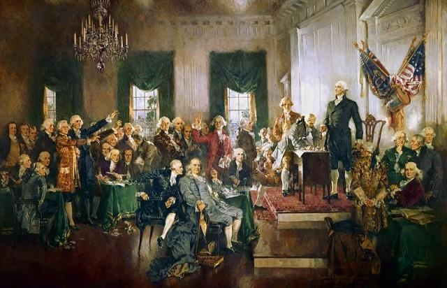 George Washington presiede la Convenzione di Philadelphia