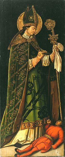 San Valentino. Dipinto di Leonhard Beck, Museo Nazionale della Fortezza di Coburgo.