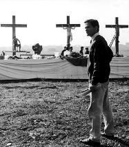 """Pier Paolo Pasolini sul set de """"La ricotta"""""""
