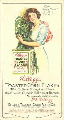 Una delle prime pubblicità Kellogg's
