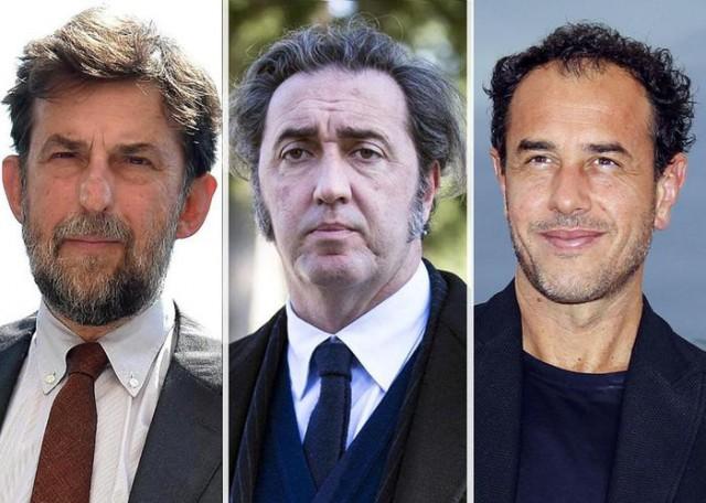 Moretti, Sorrentino e Garrone (da sx)