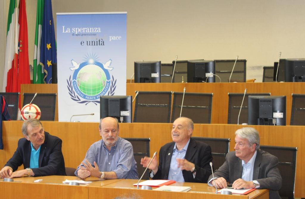 Da sinistra: Pierluigi Frosio, Silvano Appiani, Carlo Chierico, Martino Cazzaniga.