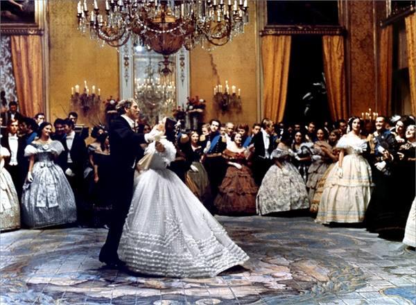 la celebre scena del ballo nel Gattopardo di Visconti, con Burt Lancaster e Claudia Cardinale