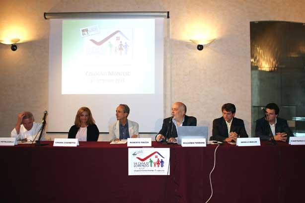 Da sinistra: Davide Petruzzelli, Chiara Cognetta, Roberto Mazza (responsabile URP Istituto Nazionale dei Tumori), Riccardo Perrone, Angelo Rocchi, Gianfranco Cerioli
