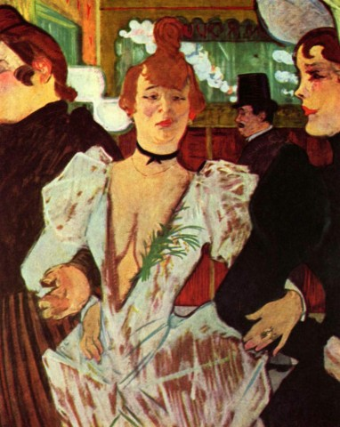 "Henry de Toulouse-Lautrec, ""La Goulue arriva al Moulin Rouge"", 1892, New York, Museum of Modern Art"