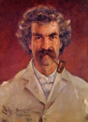 Mark Twain ritratto da James Carroll Beckwith
