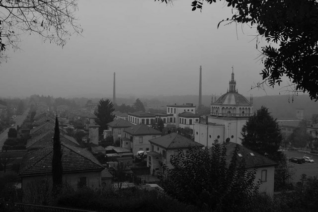 panorama del villaggio operaio di Crespi d'Adda
