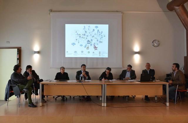 Da sinistra: Gigi Ponti, Pierfranco Maffè, Laura Barzaghi, Fabrizio Annaro, Cherubina Bertola, Antonello Formenti, Gian Marco Corbetta, Corrado Boccoli.
