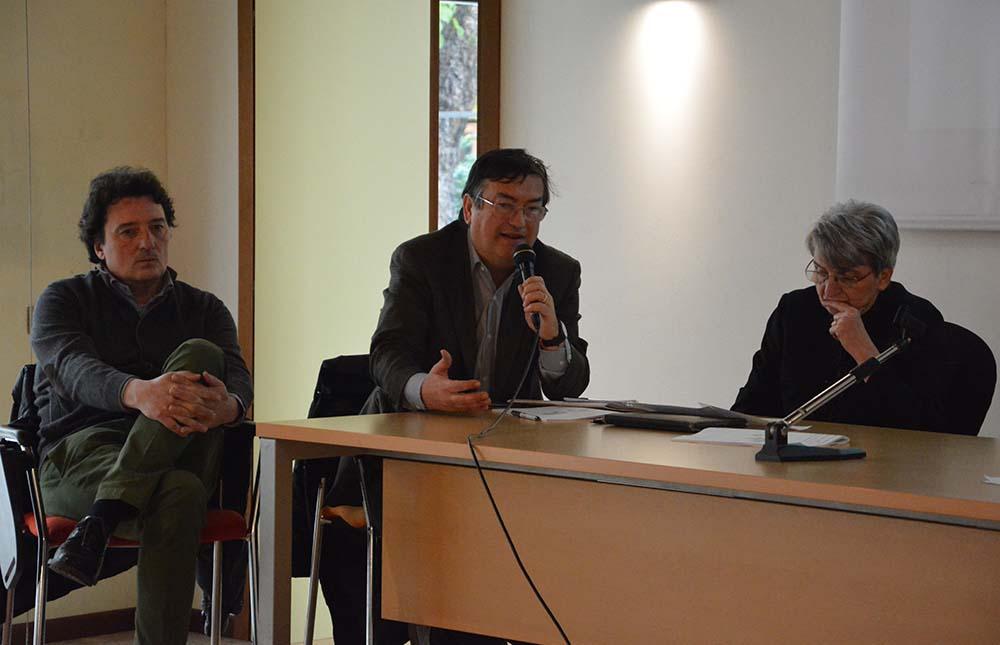 Da sinistra: Gigi Ponti, Pierfranco Maffè, Laura Barzaghi.