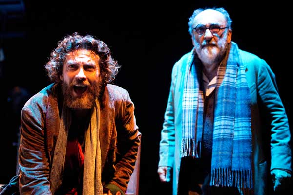 Da sinistra: Alessio Boni e Alessandro Haber