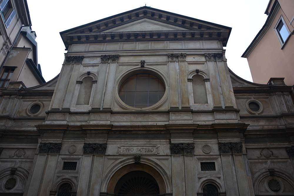 Facciata della Chiesa realizzata su progetto di Giovanni Antonio Amedeo