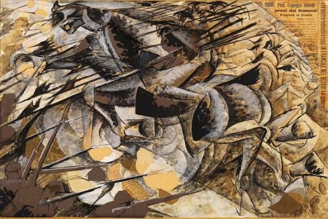 Umberto Boccioni, Carica di lanceri, 1915