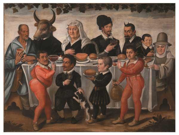 Anonimo pittore toscano del XVII secolo Banchetto grottesco 1630 - 1640 ca.