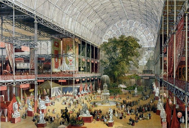 Il Crystal Palace costruito in occasione dell'esposizione universale del 1851