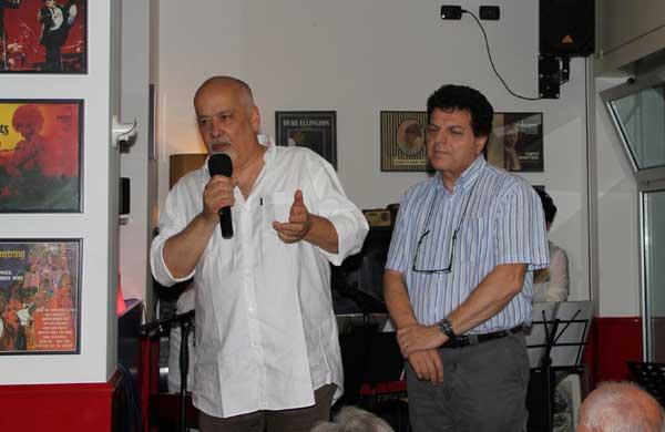 Il presidente dell'ALP Riccardo Perrone con, a destra, il Vicesindaco e assessore ai Servizi Sociali Gianfranco Cerioli,