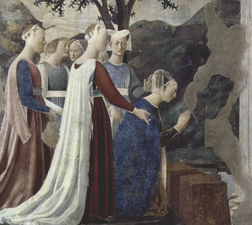 Adorazione della croce (dettaglio) - Basilica San Francesco Arezzo