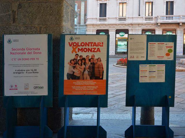 4 ottobre si celebra, in Italia, la II Giornata Nazionale del Dono_ Monza, Arengario, P.zza Roma