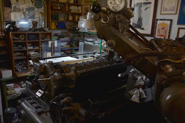 Audax nebiolo: macchina tipografica usata da Alberto