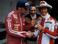 Lauda e Merzario, un'amicizia nata in curva