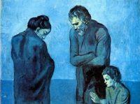 Sacra famiglia in blu