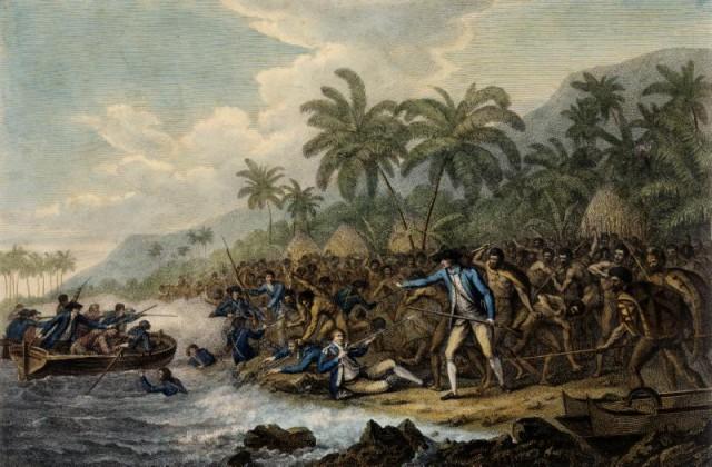 La morte di James Cook dipinta da John Webber