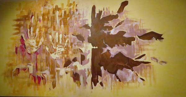 Irene Aversano Rorschach, 2014 acrilico su tela, 120 x 60 cm