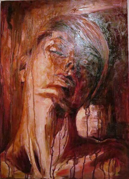 Mario Digennaro Red-emption, 2014 olio su tela, 50 x 70 cm