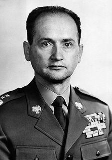 Il generale Jaruzelski, al potere in Polonia dal 1981