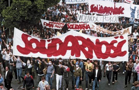 Una manifestazione dei lavoratori polacchi.