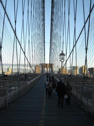 Percorso pedonale sul ponte di Brooklyn