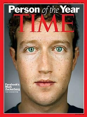 Mark Zuckerberg 'personaggio dell'anno' sul Time, nel 2010