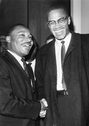 Malcolm X (a destra) insieme a Martin Luther King