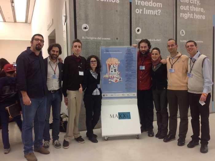 Foto di gruppo degli organizzatori del festival.