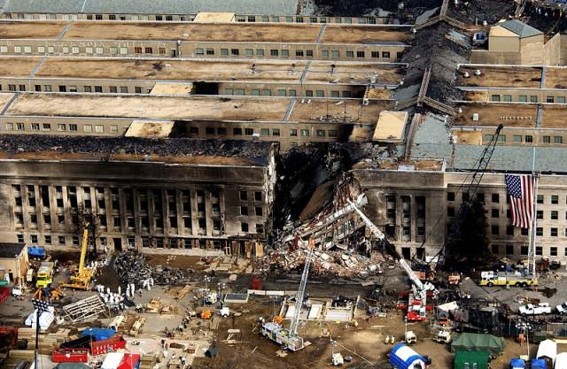 Il Pentagono dopo l'attacco