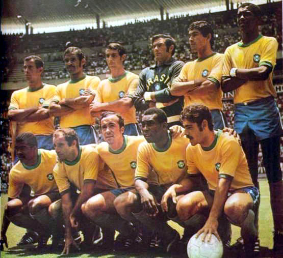 Pelè nello straordinario Brasile campione del Mondo 1970