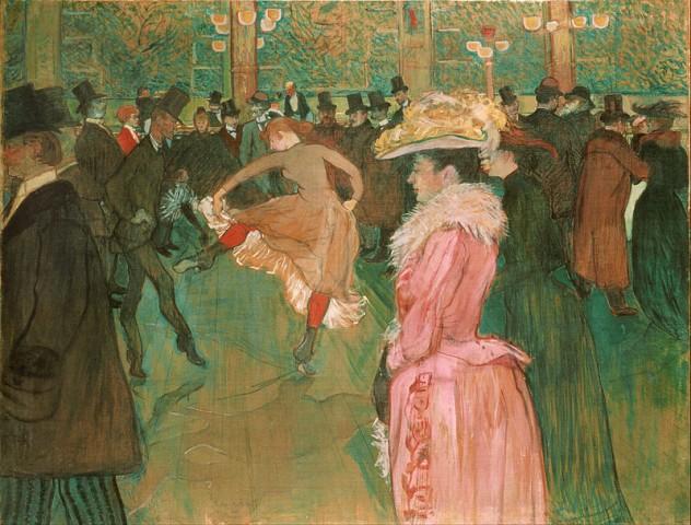 """Henry de Toulouse-Lautrec, """"Al Moulin Rouge"""", 1890, Philadelphia Museum of Art"""