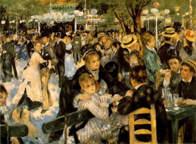 "Pierre-Auguste Renoir, ""Ballo al Moulin de la Galette"", 1876, Parigi, Museo d'Orsay"